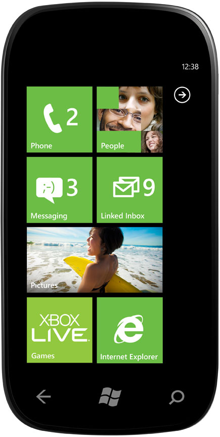 WP7 Start Screen w/ Linked Inbox