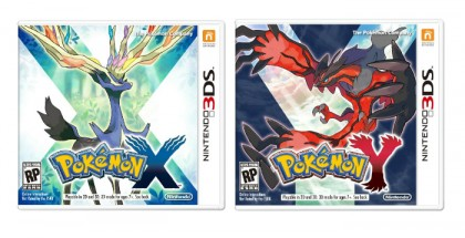 The box art for Pokémon X and Pokémon Y
